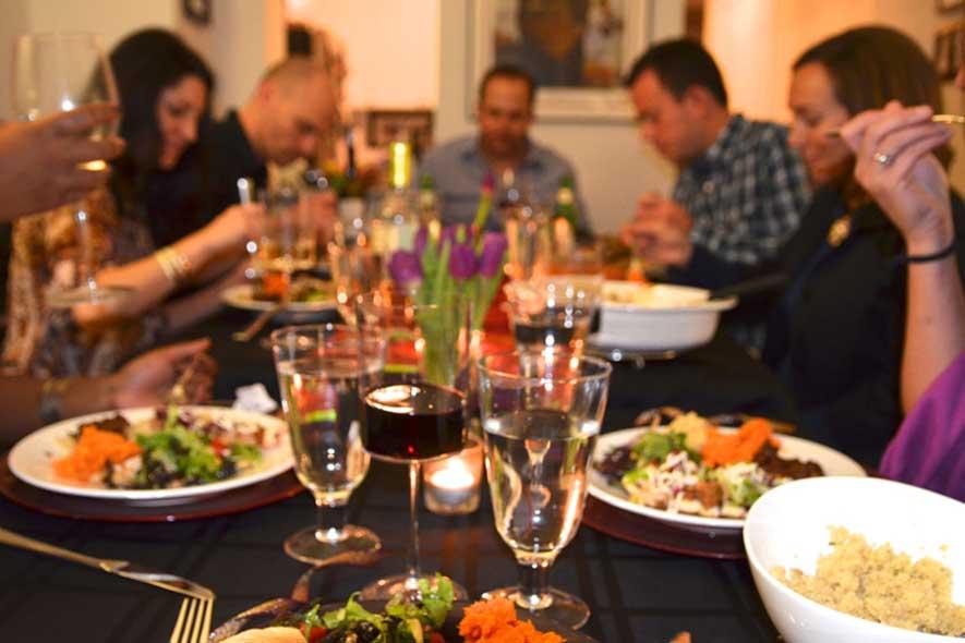 cenas, comidas familiares, amigos, catering Cáceres