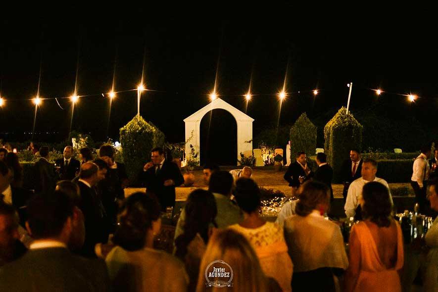 montaje de boda Catering Cáceres Pajuelo en Las Golondrinas